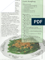 Recipe available for Kangkong in pdf form
