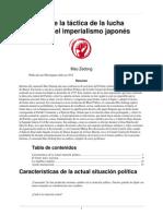 Mao Sobre La Tactica de La Lucha Contra El Imperialismo Japones