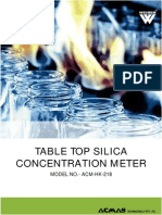 Table Top Silica Concentration Meter