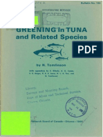 Greening in Tuna and Related Species