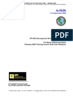PreStudy Guide API 653 January 2006