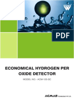 Economical Hydrogen Per Oxide Detector
