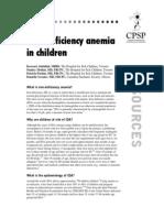 RA Iron Deficiency Anemia