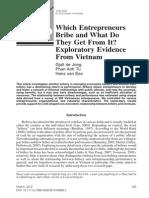 Which Entrepreneurs Bribe