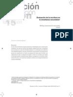 gutierrez - EVALUACION DE LA ESCRITURA EN LA ENSEÑANZA SECUNDARIA