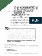 pardo Felipe - la estructura argumentativa base para la comprensión y producion de textos científicos y argumentativos