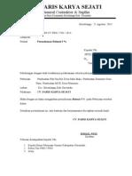 Surat Permohonan Retensi