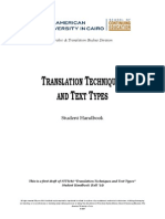 Translation Techniques and Text Types