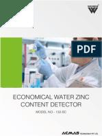 Economical Water Zinc Content Detector