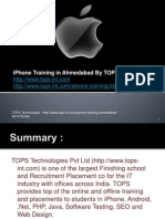 iPhone Training in Ahmedabad By TOPS Technologies