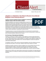 LW Arbitration Primer Financial Sector