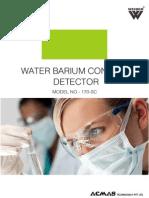 Water Barium Content Detector