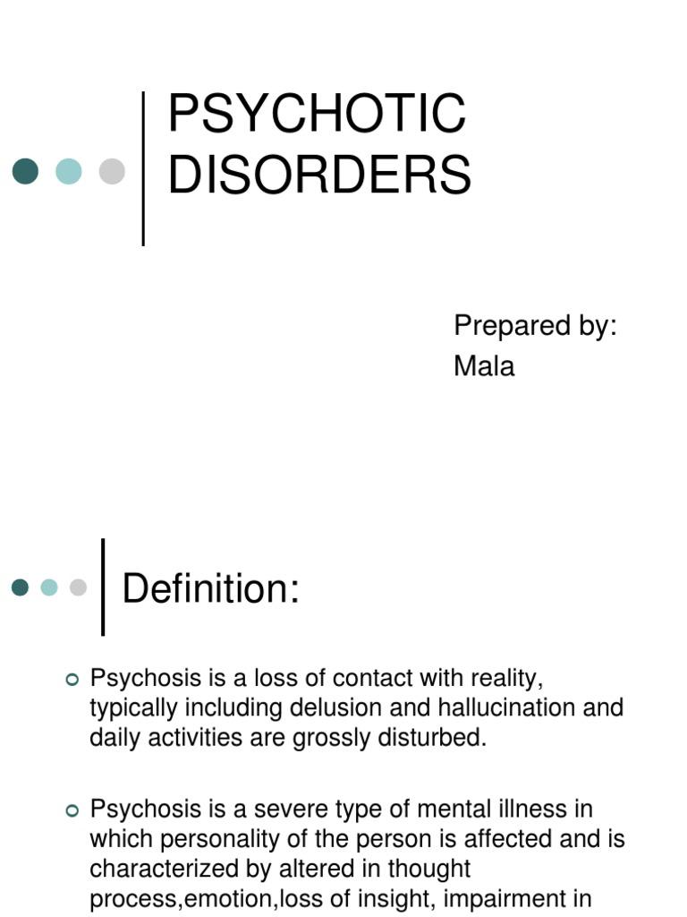 psychotic disorders   mania   schizophrenia