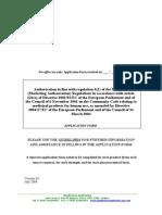 Application Form (Aa) - July 2009