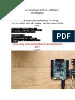 Tessel Hardware Development for Software Developers