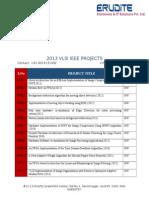 Mtech VLSI Project List 2013