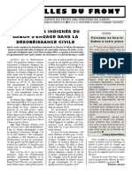 Le front des indignés du Gabon s'engagent dans la désobéissance civile