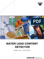 Water Lead Content Detector