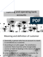 Opening and Operating Bank Accounts