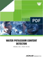 Water Potassium Content Detector
