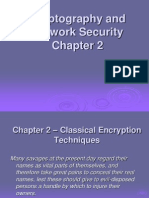 Classical Encryption Techniques in cryptography and network security
