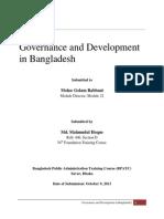 Governance and Development in Bangladesh