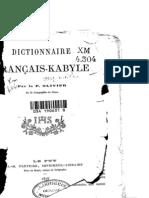Olivier : dictionnaire Kabyle-Français (1878)