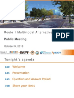Route 1 Multimodal Alternatives Analysis Public Meeting Slides