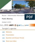 Route 1 Multimodal Alternatives Analysis Public Meeting Slides