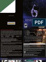 Resident Evil 6 Manual (PlayStation 3 - English)
