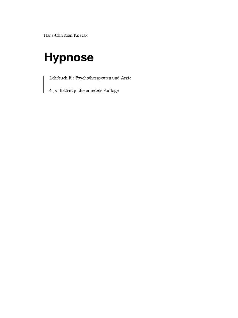 Kossak, Hans-Christian - Hypnose - Lehrbuch
