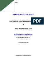 Memoria Descriptiva y Espec Tecnicas - AEROPUERTO de PISCO