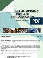 Estudio de Opinion Municipio Santiago Marino