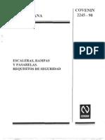 COVENIN 2245-90 Escaleras Rampas y Pasarelas