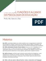 Historico, funções e alcance da psicologia da educação