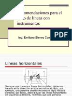 Recomendaciones para el trazo de líneas con instrumentos