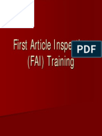 First Article Inspection Instruction