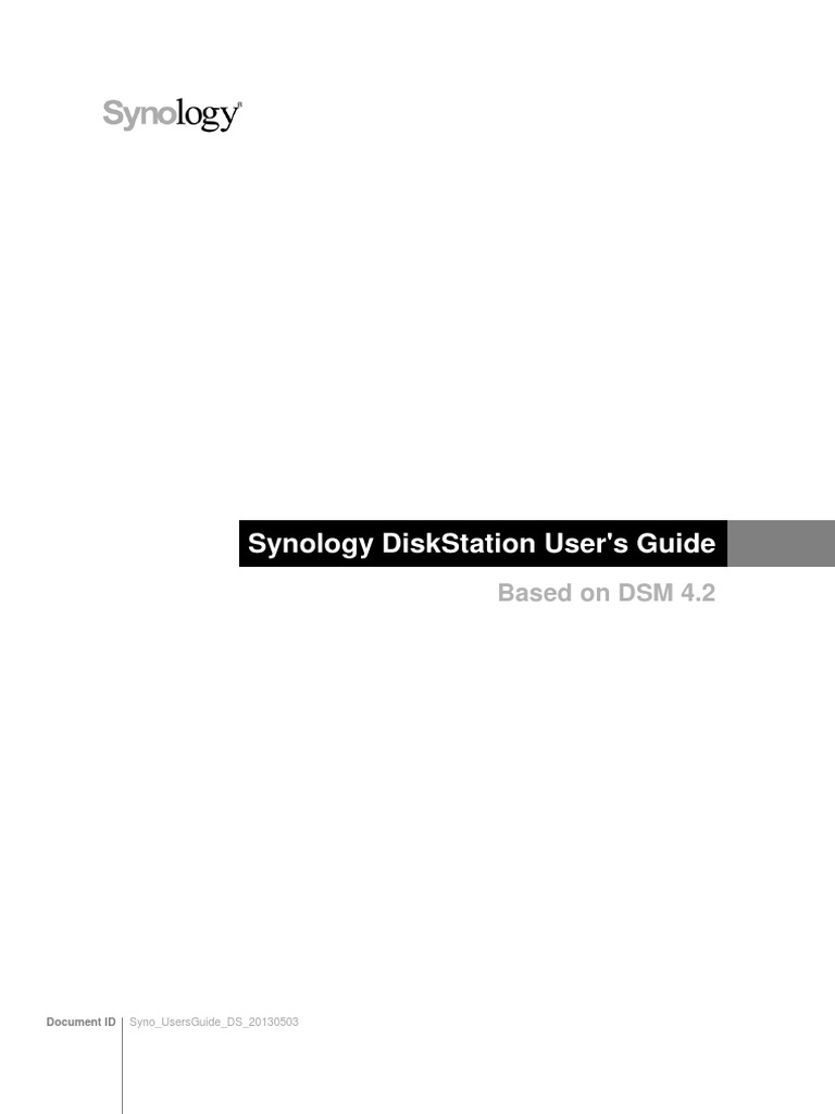 Synology Users Guide NAServer | I Pv6 | Hard Disk Drive