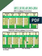 Calendar scolar 2013-2014