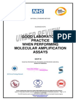Good Laboratory Paractice When Performing Molecular Amplification ASSAYS