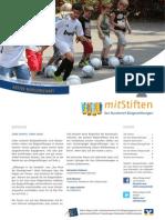 mitStiften - Der Rundbrief Bürgerstiftungen. Nr. 34, August 2013