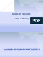 Scope of Practice for SLP & A