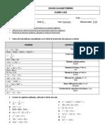 Examen  Factorización 8° ok