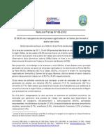 Nota de Prensa Nº 06 - 2012