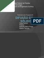 Fenomenos III - Difusão em sólidos