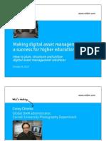 Making digital asset management (DAM) a success for higher education