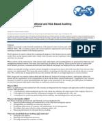 Tradisional vs Risk Based Audit