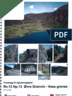 Framlegg til reguleringsplan Rv.13 Hp.13 Øvre Granvin - Voss grense (2002)