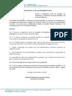Resolução CAUBR no 33, de 6 de setembro de 2012 - Regimento Geral do