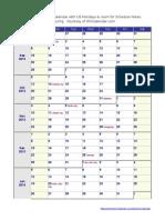 School Calendar 2013 2014 US Holiday Large
